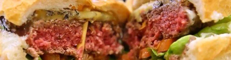 Hamburger à la viande de Bleue du Nord et pavé bleu